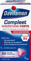 Davitamon Compleet Weerstand Forte kauwtabletten